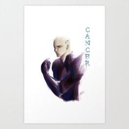 Cancer Sign - Zodiac series by OccultArt Art Print