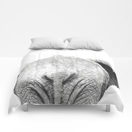 Black and white elephant animal jungle Comforters