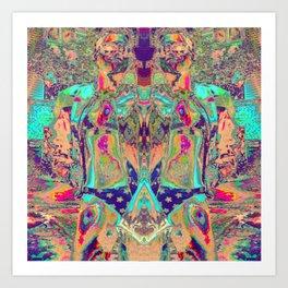 17-44-31 (Patriot Swim Glitch) Art Print
