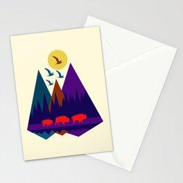 Three Bison Stationery Cards