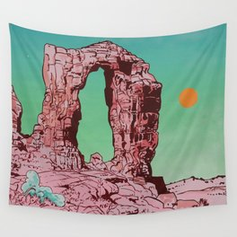 Pink Arch Wall Tapestry