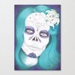Dia De Los Muertos - Lily Canvas Print