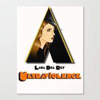 ultraviolence Canvas Prints featuring ULTRAVIOLENCE by ELIAOKO