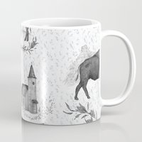 political Mugs featuring Political Toile by Jessica Roux