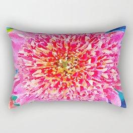 Pink Watercolor Flower Rectangular Pillow