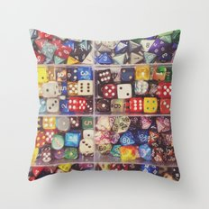 Colorful Dice Throw Pillow