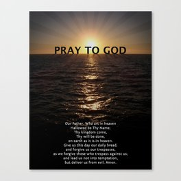 Our Father Prayer Canvas Print