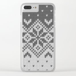 Winter knitted pattern 8 Clear iPhone Case