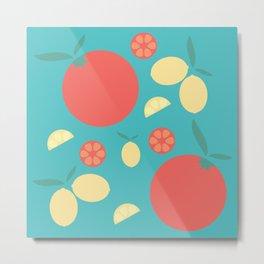 Oranges and Lemons Metal Print