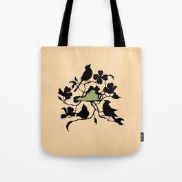 Virginia - State Papercut Print Tote Bag