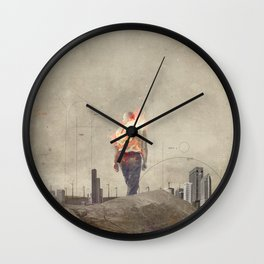 These cities burned my soul Wall Clock