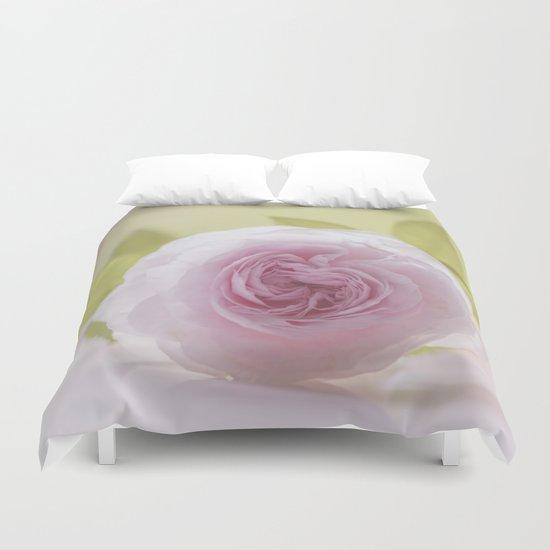 Roses in LOVE I - Rose Flower Floral  pink Duvet Cover