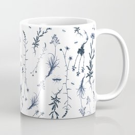 Vintage English Field Flowers - White Coffee Mug