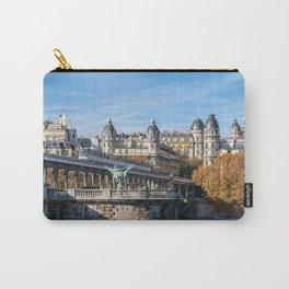 Metro with graffiti on Bir-Hakeim bridge in Autumn - Paris Carry-All Pouch