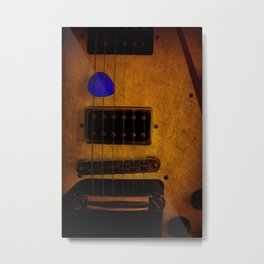 Blue Plectrum Metal Print