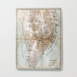 Vintage Map of Halifax Nova Scotia (1890) Metal Print