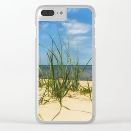 Beach Gras Impressions Clear iPhone Case