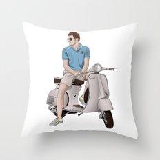 Vespa Lover Throw Pillow