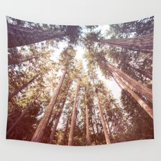 Forest Sky - Tall Trees Wall Tapestry