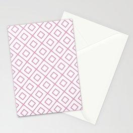 Light Pink Diamond Pattern 2 Stationery Cards