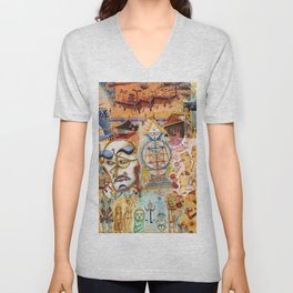 Xul Solar collage Unisex V-Neck