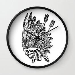 Indian chief skull head Wall Clock