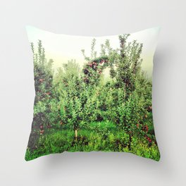 Upstate Apple Orchard  Throw Pillow