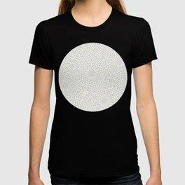 White Moroccan Tiles Pattern T-shirt