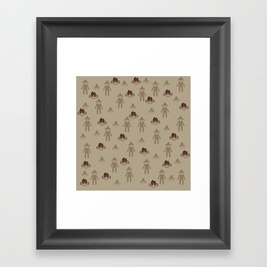 Little Sock Monkeys Framed Art Print
