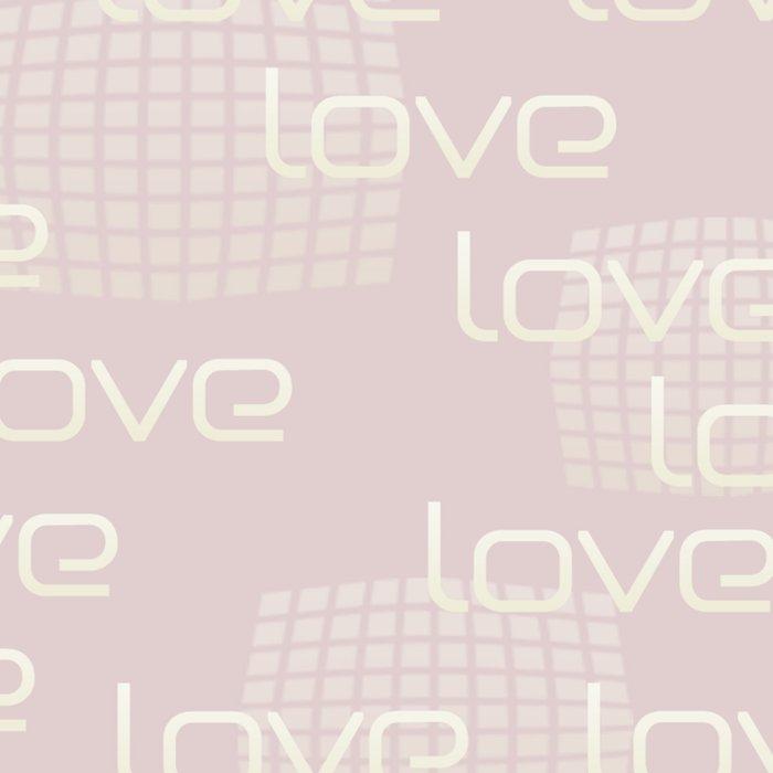 Pastel Pink Love Text Pattern Leggings