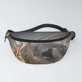 Heron and the mole Fanny Pack