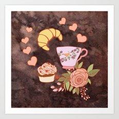 Romantic breakfast   Art Print