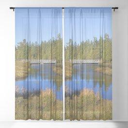 Shingleton, Upper Peninsular, Michigan. Sheer Curtain