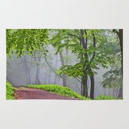 Path into the fog Rug