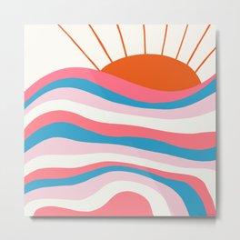 sunrise surf | 70's Metal Print