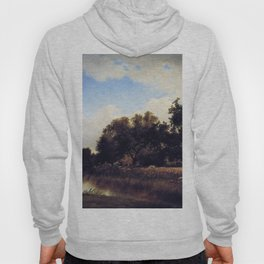 Study Pompton New Jersey 1879 By David Johnson | Reproduction | Romanticism Landscape Painter Hoody