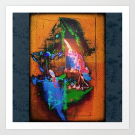 Philosopher & Fool - Acid Fire Art Print