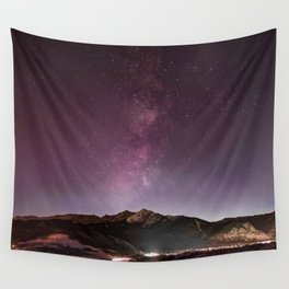 Milky Way Landscape Wall Tapestry