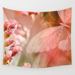 ROSE SPANGLES no5-QF-Butterfly Wall Tapestry