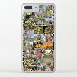 Cactus Montage Clear iPhone Case