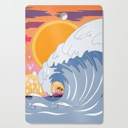 Sunset wave Cutting Board