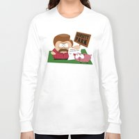 parks Long Sleeve T-shirts featuring South Parks and Rec by JVZ Designs