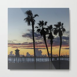 Sunset Though The Palms 2-21-19 Metal Print