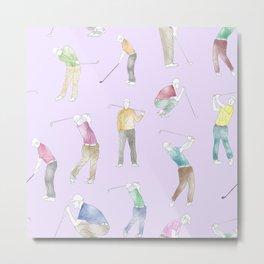 Watercolor Golfers // Magnolia Metal Print