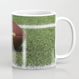 American Football Court with ball on Gras Coffee Mug