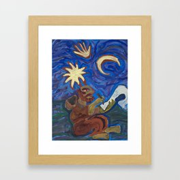 Cosmic Monk Framed Art Print