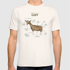Anatomy of a Goat X-LARGE Natural Mens Fitted Tee