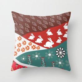 Cute cloth patterns Throw Pillow