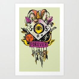 Forever. Tatoo Art Print