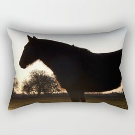 Backlit horse Rectangular Pillow